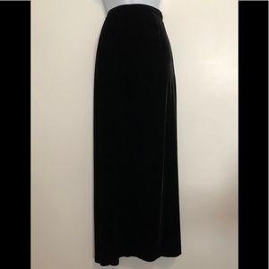 "Eddie Bauer Velvet A Line 40"" Maxi Skirt 12 Tall"